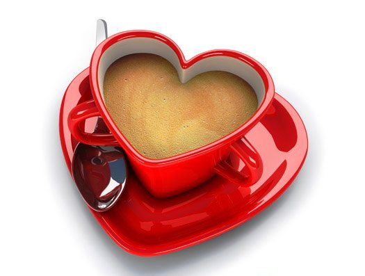 Чаша любви в виде сердца